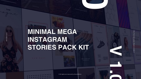 Minimal Mega Instagram Stories Pack Kit 22393686 After Effects Template