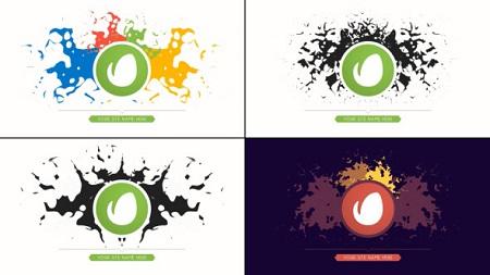 Minimal Paint Splatter Art Logo Reveal 10172462 After Effects Template