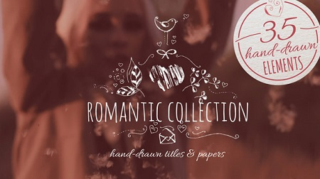 Videohive Romantic Collection Hand-drawn Titles 19457820