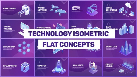 Technology Isometric Concepts 22413322 After Effects Template