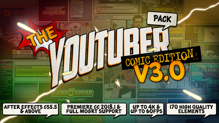 The YouTuber Pack Comic Edition V3.0 22745238 After Effects Template