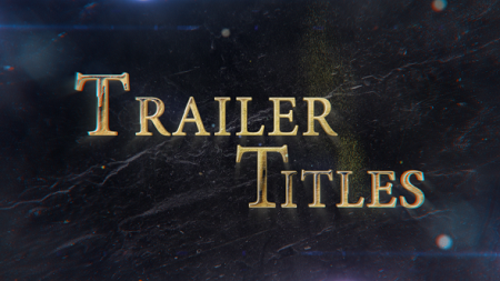 Trailer Titles 21448331 After Effects Template Download Videohive