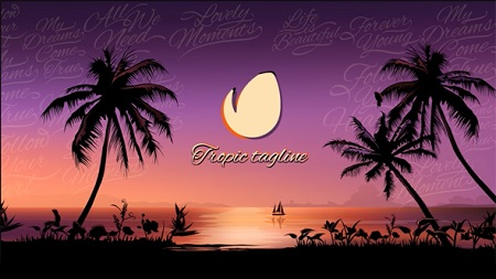 Videohive Tropical Sunset Opener 20618426 After Effects Template