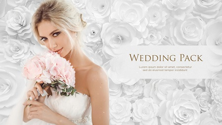 Videohive Wedding Pack White Roses 21953897