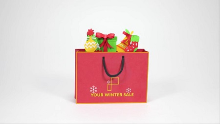 Pond5 Christmas Shopping Bag 096681878 After Effects Template