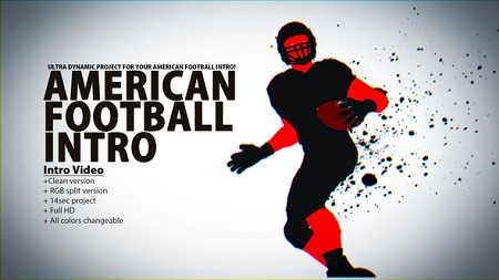 American Football Intro 22898554 After Effects Template Download
