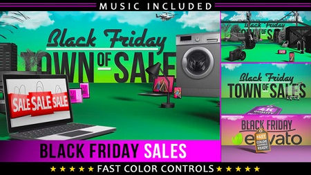Black Friday Shopping Promotion 22891325 After Effects Template