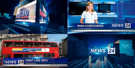 Broadcast News Package 5952127 After Effects Template Download
