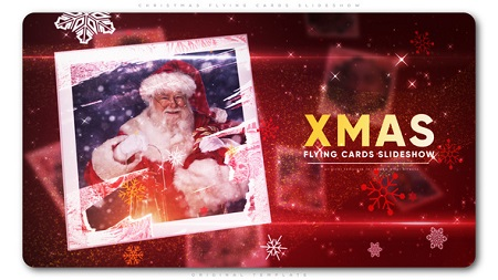 Christmas Flying Cards Slideshow 22783786 After Effects Template