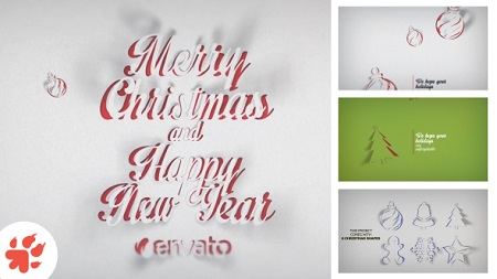 Christmas Greetings Paper 13698882 After Effects Template Download
