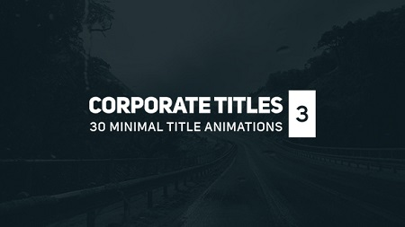 Corporate Titles 3 17164923 After Effects Template Download Videohive