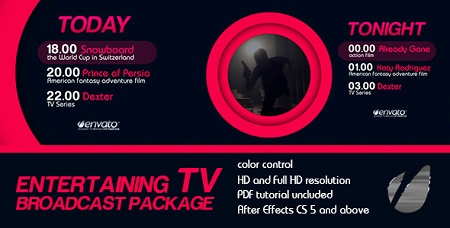 Entertaining TV Broadcast Package 6278769 After Effects Template