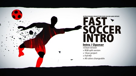 Fast Soccer Intro 22934416 After Effects Template Download Videohive