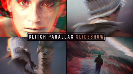 Videohive Glitch Parallax Slideshow 19638658 After Effects Template