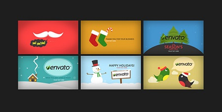 Holidays Greetings Pack 9355535 After Effects Template Download