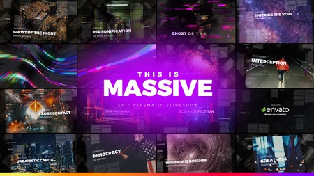 Massive Epic Cinematic Slideshow 22111031 After Effects Template