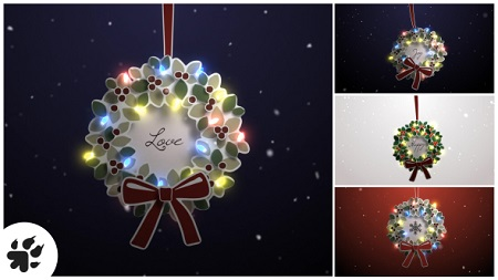 Merry Christmas Wreath 19105685 After Effects Template Download