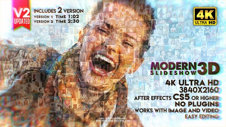 Modern Slideshow 3D V2 22607451 After Effects Template Download