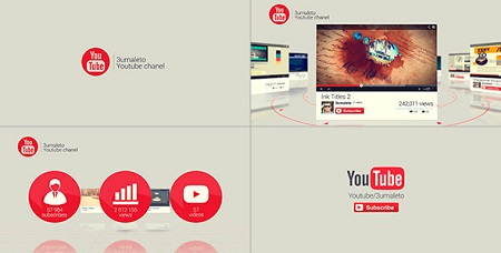 My Youtube and Vimeo Channel 7862119 After Effects Template Download