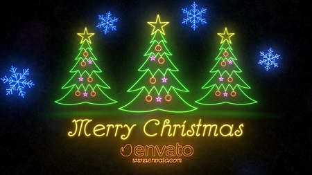 Neon Light Christmas 22892071 After Effects Template Download