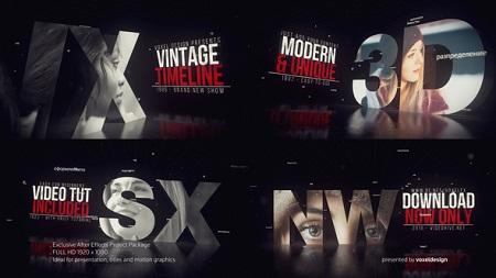 Vintage Timeline Title 22861082 After Effects Template Download