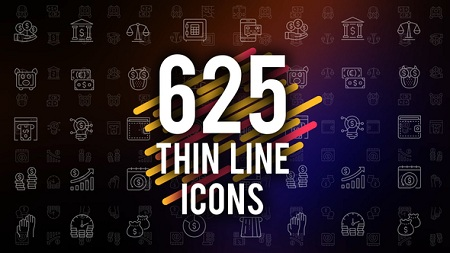 625 Thin Line Icons 22973742 After Effects Template Download Videohive