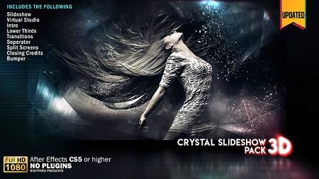 Crystal Slideshow Pack 3D V2 20854841 After Effects Template Download