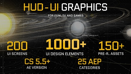 HUD UI Graphics for FILM TV and GAMES 19580362 After Effects