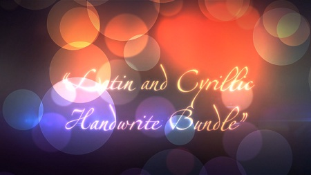 Latin and Cyrillic Handwrite Bundle 5968629 After Effects Template