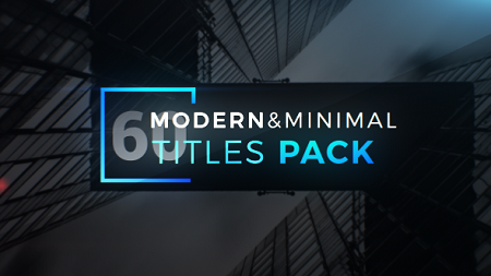 Modern Minimal Titles Pack 19648545 After Effects Template Download