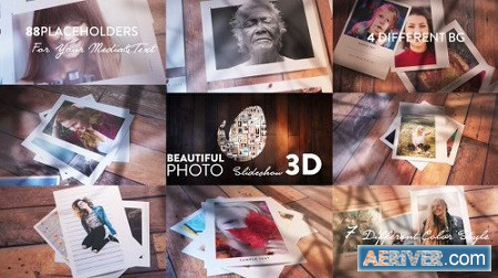 Beautiful Photo Slideshow 3D 20572532 After Effects Project Download