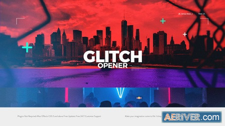 Glitch Opener 20868750 After Effects Project Download Videohive