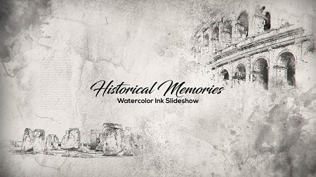 Historical Memories Watercolor Ink Slideshow 18404158 Download