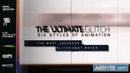 The Ultimate Glitch Text Maker 70 Title Animation Presets Pack 23110607