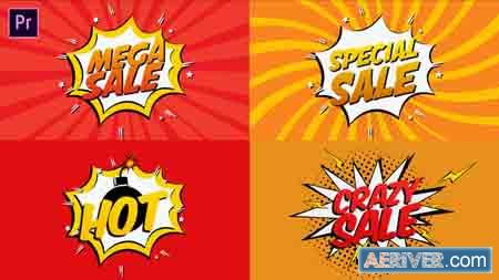 VideoHive Comic Book Sale Cartoon I Essential Graphics 23248519 Free