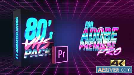 Videohive 80's VHS Intro Pack MOGRT for Premiere Pro