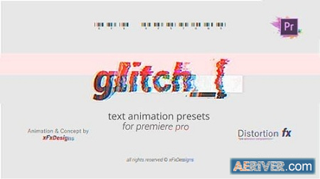 Videohive Project-x Glitch 30 Text Presets Mogrt 23222524