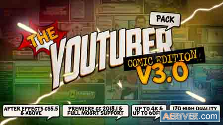 Videohive The YouTuber Pack - Comic Edition V3 0 22745238
