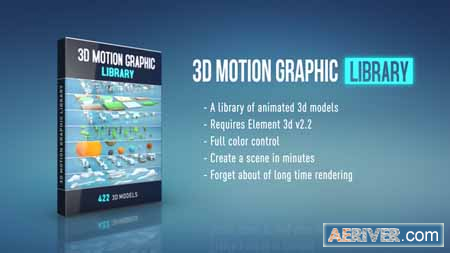Videohive 3D Motion Graphic Library 22872868