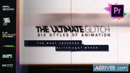 Videohive 70 Glitch Title Animation Presets Pack For