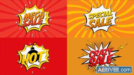 Videohive Comic Book Sale Cartoon 21685783 Free