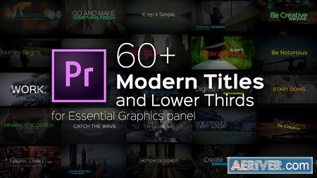 Videohive Modern Titles and Lower Thirds for Premiere Pro 22257923 Free
