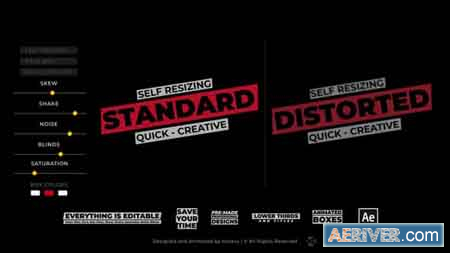Videohive Title Box Auto Resizing Titles and Lower Thirds