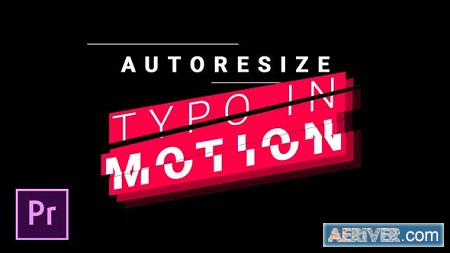 Videohive Titles and Lower Thirds - Autoresizing Typo in Motion
