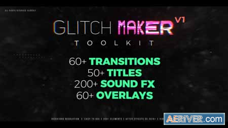 Videohive Glitchmaker Toolkit 350+ Elements 21466848 Free