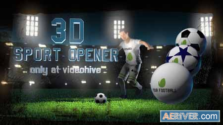 Videohive Soccer Night - 3D Sport Opener 21887858 Free