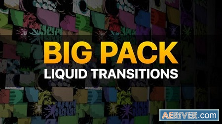Videohive Liquid Transitions Big Pack 23309878 Free