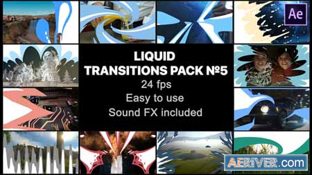 Videohive Liquid Transitions Pack 05 23442949 Free