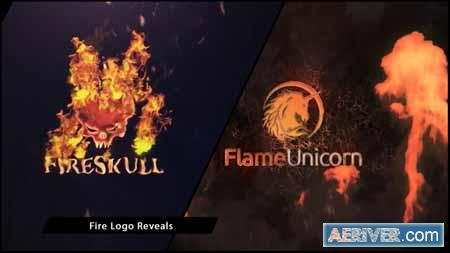 Videohive Fire Logo Reveals 9464984 Free