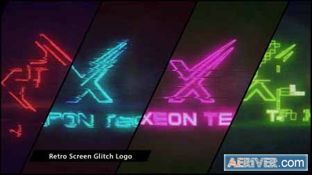 Videohive Retro Screen Glitch Logo 20139448 Free